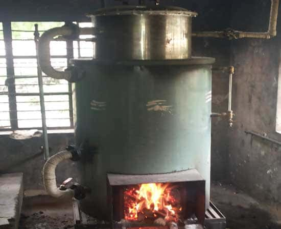 Fire Wood Stream Boiler